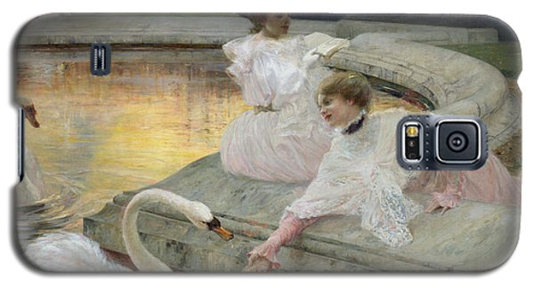 Swan Galaxy S5 Case - The Swans by Joseph Marius Avy
