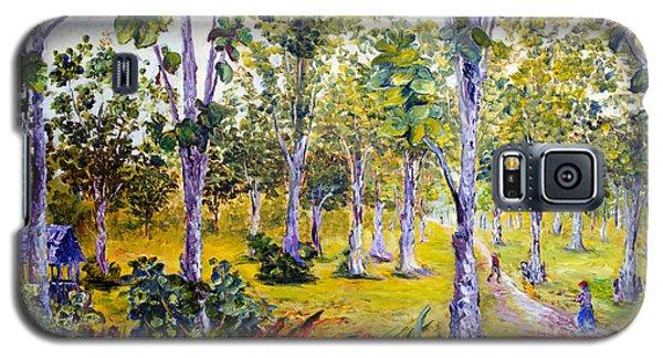 Galaxy S5 Case featuring the painting The Teak Garden by Jason Sentuf