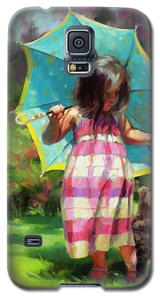 The Teal Umbrella Galaxy S5 Case