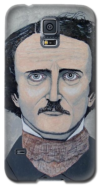 Galaxy S5 Case featuring the painting The Telltale Heart Of Edgar Allen Poe. by Ken Zabel