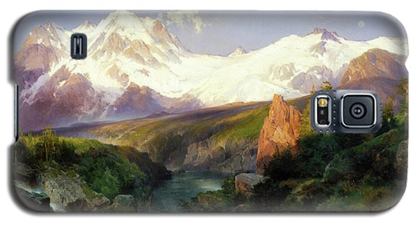 The Teton Range Painting By Thomas Moran                               Galaxy S5 Case by Thomas Moran