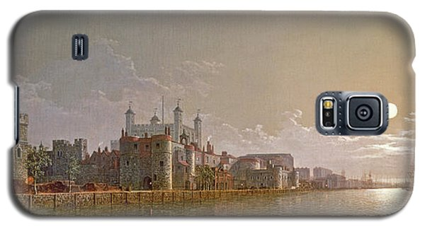 The Thames By Moonlight With Traitors' Gate And The Tower Of London Galaxy S5 Case by Henry Pether