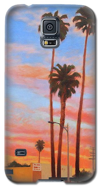 Galaxy S5 Case featuring the painting The Three Palms by Andrew Danielsen