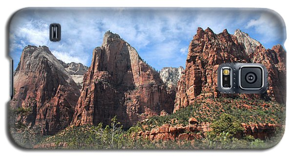 Galaxy S5 Case featuring the photograph The Three Patriarchs by Barbara Manis