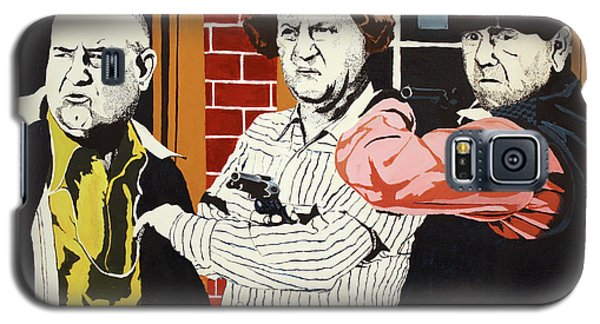 Galaxy S5 Case featuring the painting The Three Stooges by Thomas Blood