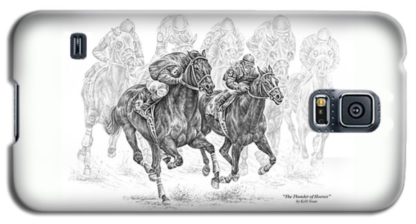The Thunder Of Hooves - Horse Racing Print Galaxy S5 Case