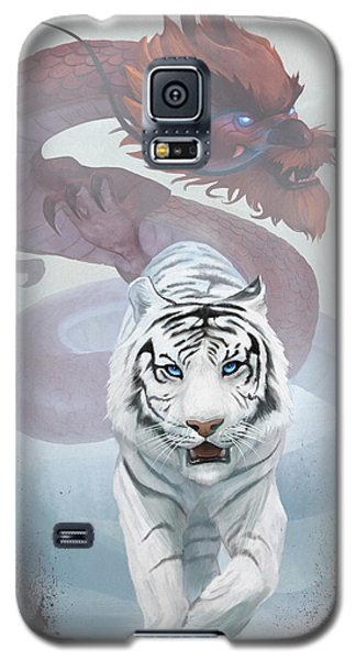 Galaxy S5 Case featuring the digital art The Tiger And The Dragon by Steve Goad