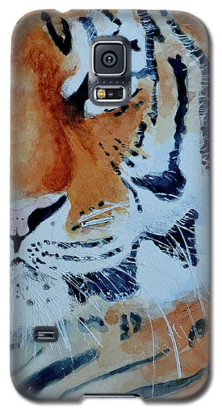 Galaxy S5 Case featuring the painting The Tiger by Steven Ponsford