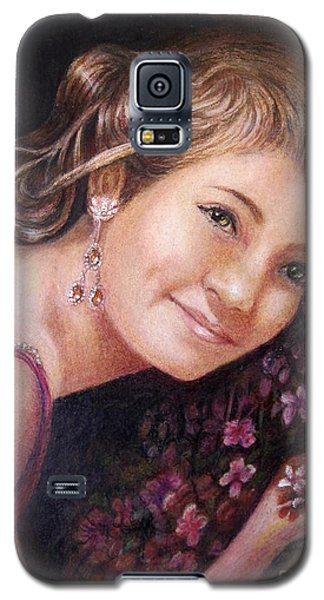 The Topaz Earring Galaxy S5 Case by Patricia Schneider Mitchell