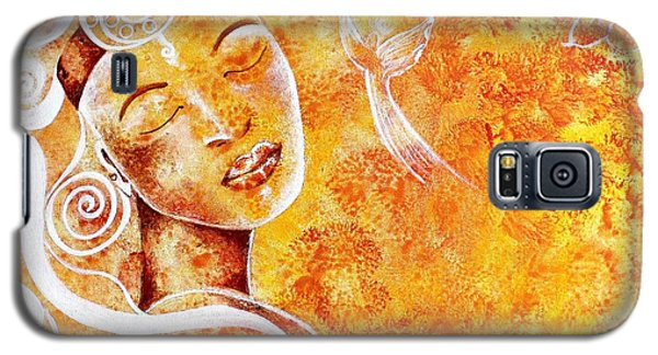 Galaxy S5 Case featuring the painting The Touch Of Grace by Julie  Hoyle