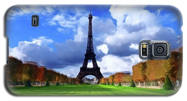 Galaxy S5 Case featuring the painting The Tower Paris by David Dehner