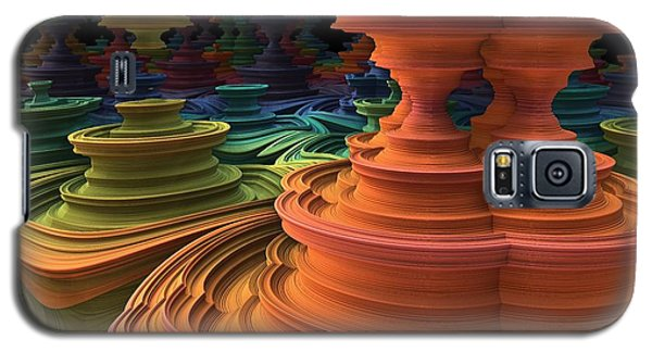 Galaxy S5 Case featuring the digital art The Towers Of Zebkar by Lyle Hatch