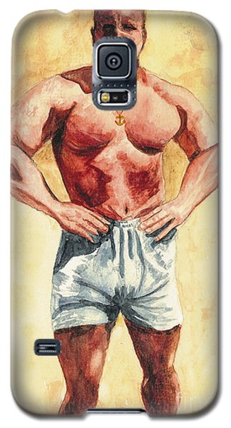 Galaxy S5 Case featuring the painting The Trainer by Vicki  Housel