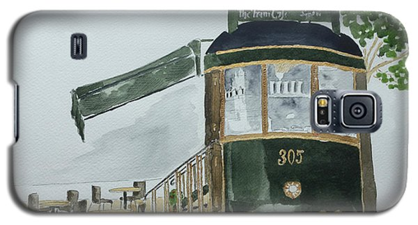 Galaxy S5 Case featuring the painting The Tram Cafe by Eva Ason
