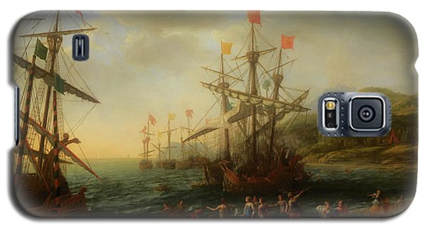 Galaxy S5 Case featuring the painting The Trojan Women Setting Fire To The Fleet by Claude Lorrain