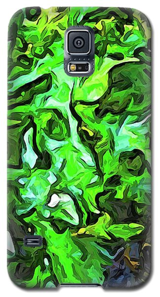 The Tropical Green Leaves With The Wings Galaxy S5 Case