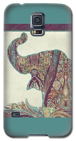 The Trumpet - Elephant Kashmir Patterned Boho Tribal Galaxy S5 Case by Audrey Jeanne Roberts