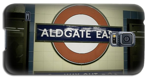 Galaxy S5 Case featuring the photograph The Tube Aldgate East by Christin Brodie