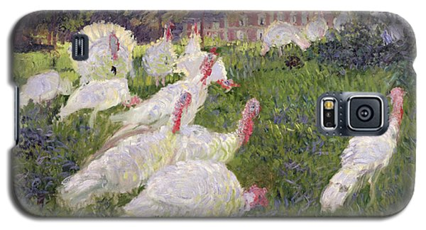 The Turkeys At The Chateau De Rottembourg Galaxy S5 Case by Claude Monet