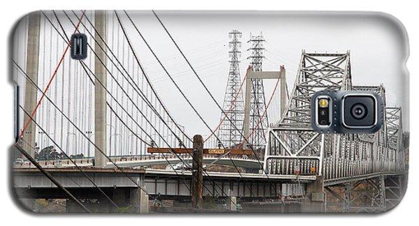 The Two Carquinez Bridges At Crockett And Vallejo California . Aka Alfred Zampa Memorial Bridge . 7d8919 Galaxy S5 Case