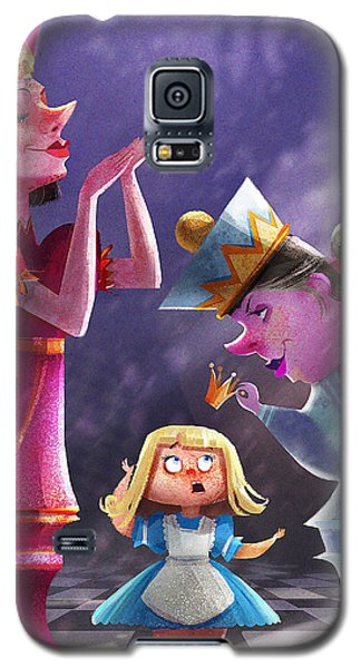 Fairy Galaxy S5 Case - The Two Queens, Nursery Art by Kristina Vardazaryan
