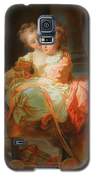 Galaxy S5 Case featuring the painting The Two Sisters                                   by Jean Claude Richard