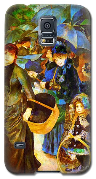 The Umbrellas By Renoir Galaxy S5 Case by Pg Reproductions