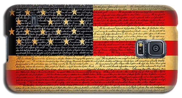 The United States Declaration Of Independence - American Flag - Square Galaxy S5 Case