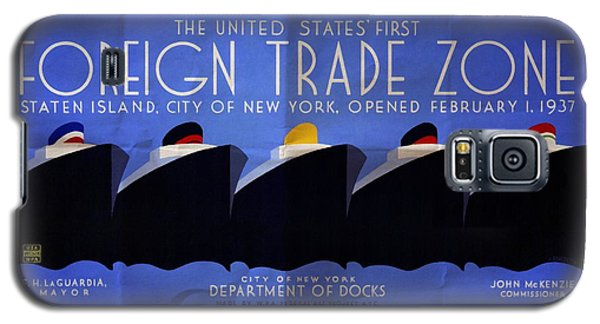 The United States' First Foreign Trade Zone - Vintage Poster Folded Galaxy S5 Case