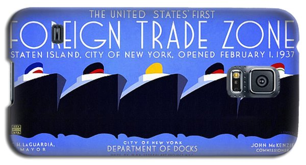 The United States' First Foreign Trade Zone - Vintage Poster Restored Galaxy S5 Case