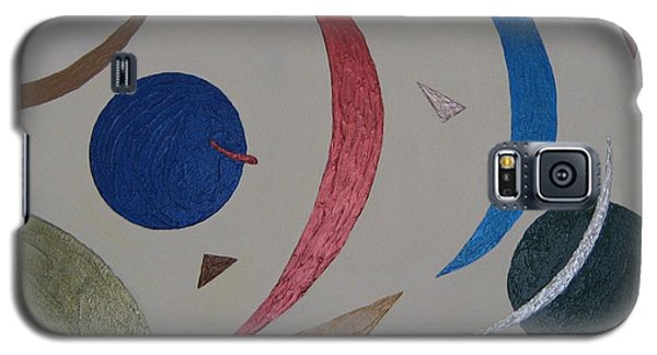 Galaxy S5 Case featuring the painting The Universe by Barbara Yearty