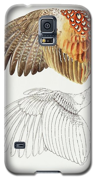 The Upper Side Of The Pheasant Wing Galaxy S5 Case