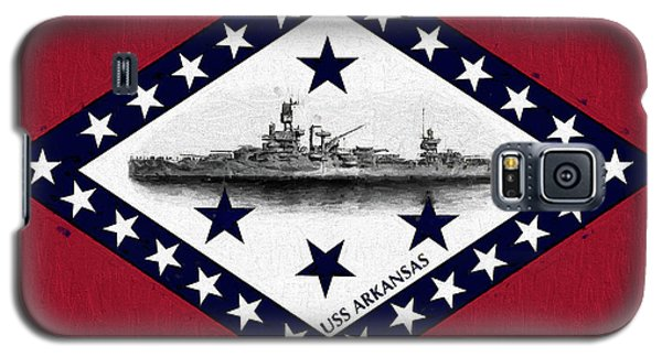 Galaxy S5 Case featuring the digital art The Uss Arkansas by JC Findley