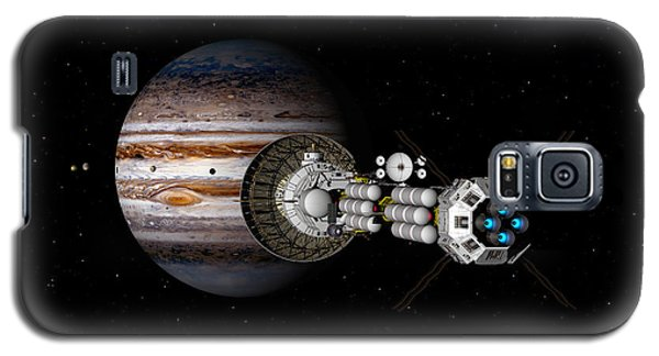 Galaxy S5 Case featuring the digital art The Uss Savannah Nearing Jupiter by David Robinson