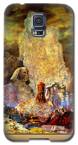 Galaxy S5 Case featuring the painting The Valley Of Sphinks by Henryk Gorecki