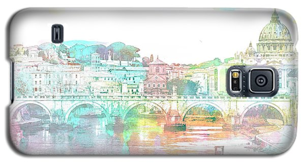 The View From Castel Sant'angelo Towards Ponte Sant'angelo, Brid Galaxy S5 Case