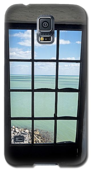 The View From The Lighthouse Window Bill Baggs Lighthouse Key Biscayne Florida Galaxy S5 Case