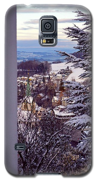 Galaxy S5 Case featuring the photograph The Village - Winter In Switzerland by Susanne Van Hulst