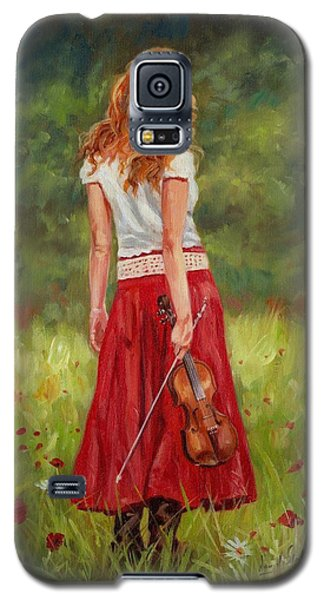 Violin Galaxy S5 Case - The Violinist by David Stribbling