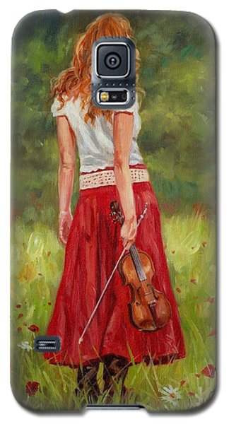 The Violinist Galaxy S5 Case by David Stribbling