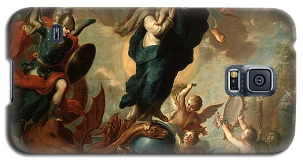 Galaxy S5 Case featuring the painting The Virgin Of The Apocalypse by Miguel Cabrera