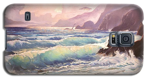 Galaxy S5 Case featuring the painting The Visitor by John Norman Stewart