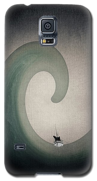 Galaxy S5 Case featuring the digital art The Voyage Of The James Caird. by Andy Walsh