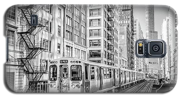 The Wabash L Train In Black And White Galaxy S5 Case