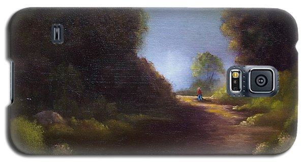 Galaxy S5 Case featuring the painting The Walk Home by Marlene Book