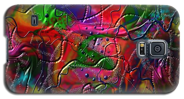 Galaxy S5 Case featuring the painting The Wall by Kevin Caudill