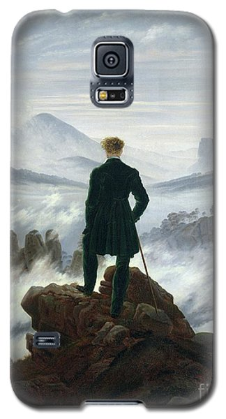 Landscapes Galaxy S5 Case - The Wanderer Above The Sea Of Fog by Caspar David Friedrich