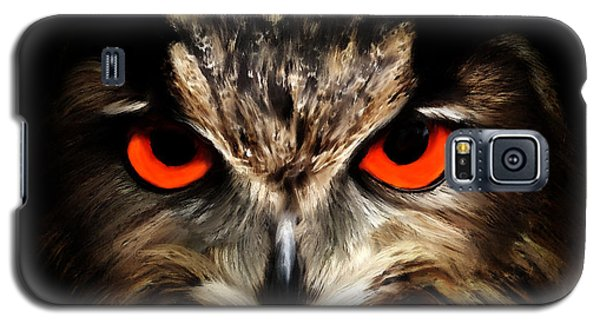 The Watcher - Owl Digital Painting Galaxy S5 Case