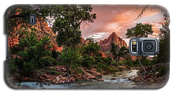 The Watchman Sunset Zion National Park Galaxy S5 Case