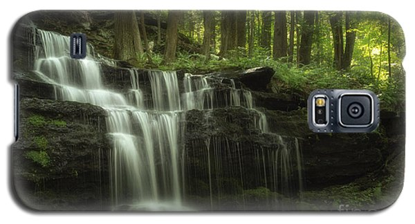 The Waterfall In The Forest Galaxy S5 Case by Mary Lou Chmura